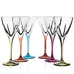 Lorren Home Trends Fusion Wine Glasses in Multi (Set of 6)