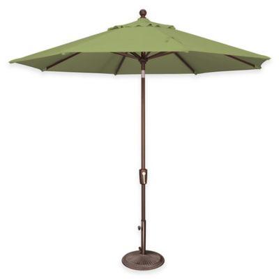 SimplyShade® Catalina 9 Foot Octagon Aluminum Tilt Market Umbrella In  Sunbrella® Ginkgo