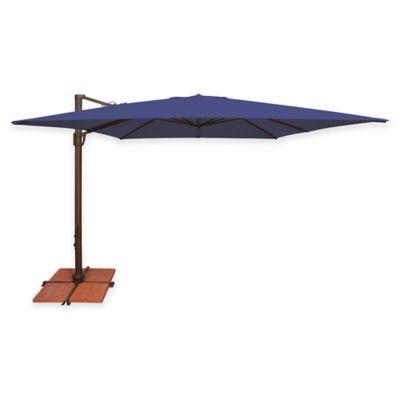 SimplyShade® Bali 10 Foot Square Cantilever Aluminum Solefin Umbrella In  Sky Blue