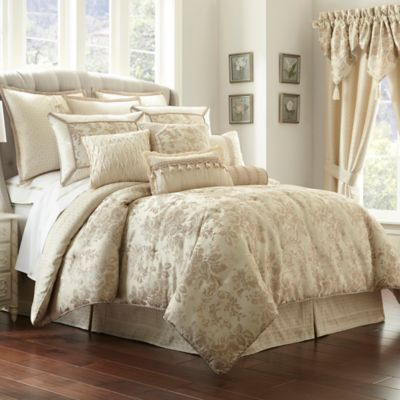 Waterford Linens Castlequin Queen Comforter Set. Buy Luxury Queen Comforter Sets from Bed Bath   Beyond