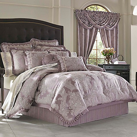 j queen new york regina comforter set in violet - J Queen New York Bedding