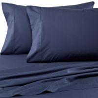 Wamsutta® Dream Zone® Percale 500-Thread-Count King Pillowcases in Denim (Set of 2)