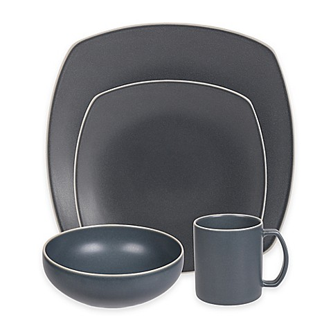 image of Artisanal Kitchen Supply® Edge Square Dinnerware Collection in Grey