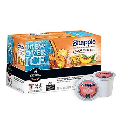 Keurig 174 K Cup 174 Pack 12 Count Snapple 174 Peach Iced Tea Bed