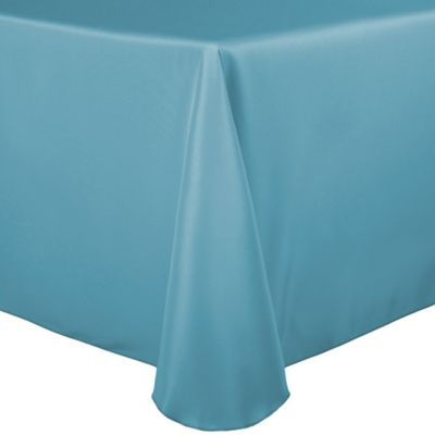 Incroyable Basic Polyester 60 Inch X 90 Inch Oblong Tablecloth In Turquoise