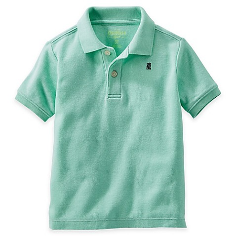 Buy oshkosh b 39 gosh size 4t piqu polo shirt in mint from for Mint color polo shirt