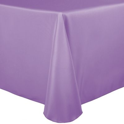 Superior Basic Polyester 90 Inch X 132 Inch Oblong Tablecloth In Lilac
