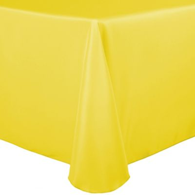 Delicieux Basic Polyester 90 Inch X 132 Inch Oblong Tablecloth In Lemon