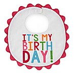 "Mud Pie® ""It's My Birthday"" Piqué Bib in Multicolor"