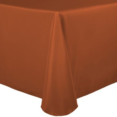 Marvelous Tablecloth In Burnt Orange