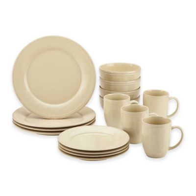 Rachel Ray™ Cucina 16-Piece Dinnerware Set in Cream  sc 1 st  Bed Bath u0026 Beyond & Buy Rachael Ray Dinnerware from Bed Bath u0026 Beyond