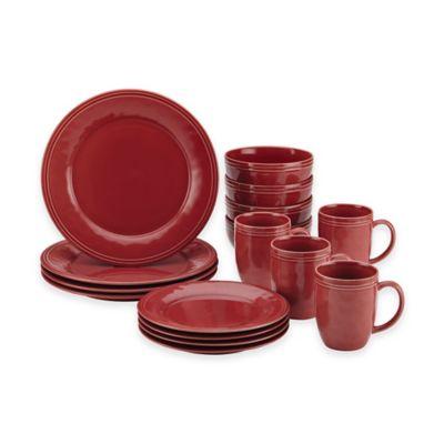 Rachel Ray™ Cucina 16-Piece Dinnerware Set in Red  sc 1 st  Bed Bath u0026 Beyond & Buy Rachael Ray Dinnerware from Bed Bath u0026 Beyond