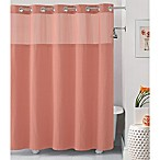 Hookless® Waffle 71-Inch x 74-Inch Fabric Shower Curtain in Coral