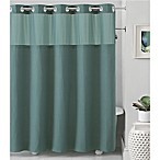 Hookless® Waffle 71-Inch x 74-Inch Fabric Shower Curtain in Teal