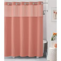 Hookless® Waffle 54-Inch x 80-Inch Fabric Shower Curtain in Coral