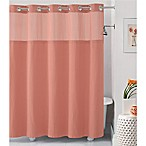 Hookless® Waffle 71-Inch x 86-Inch Fabric Shower Curtain in Coral