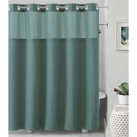 Hookless® Waffle 54-Inch x 80-Inch Fabric Shower Curtain in Teal