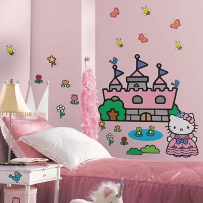 Hello Kitty Princess Castle Giant Wall Decal