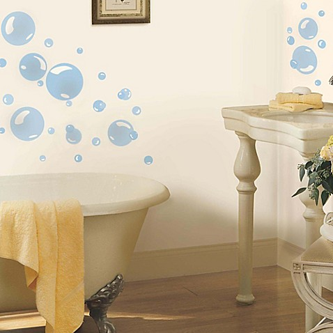 York Wallcoverings Bubbles Peel And Stick Wall Decals Set