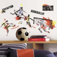 York Wallcoverings Men's Soccer Champion Peel and Stick Wall Decals