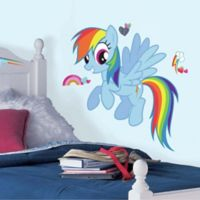 """York Wallcoverings """"My Little Pony"""" Rainbow Dash Peel and Stick Giant Wall Decals (Set of 19)"""