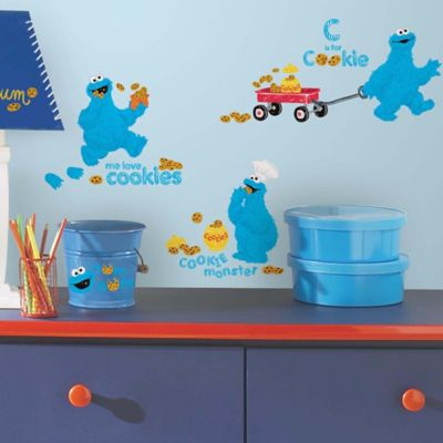 The Character Roommates Sesame Street Me Love Cookie Monster L And Stick Wall