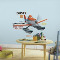 """York Wallcoverings Disney """"Planes: Fire and Rescue"""" Dusty 12-Piece Peel and Stick Giant Wall Decals"""