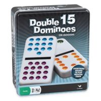 Double 15-Color Dot Dominoes