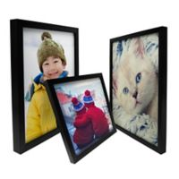 Framed Image Box Canvas Wall Art in Black