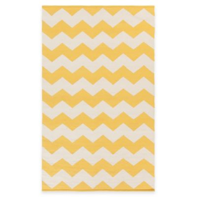 Artist Weavers Vogue Collins 3 Foot X 5 Foot Area Rug In Yellow