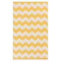 Artist Weavers Vogue Collins 3-Foot x 5-Foot Area Rug in Yellow