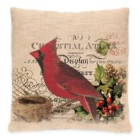 Heritage Lace® Winter Garden Cardinal Square Throw Pillow in Natural