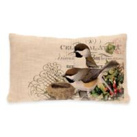 Heritage Lace® Winter Garden Chickadee Oblong Throw Pillow