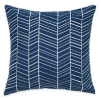 Rizzy Home Retro Embroidered Square Throw Pillow in Blue