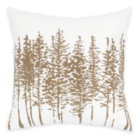 Rizzy Home Forest Square Throw Pillow in Brown