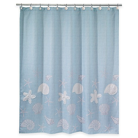 avanti sequin shells shower curtain bed bath beyond. Black Bedroom Furniture Sets. Home Design Ideas