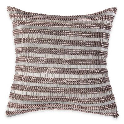 rizzy home beads and sequins square throw pillow in silver