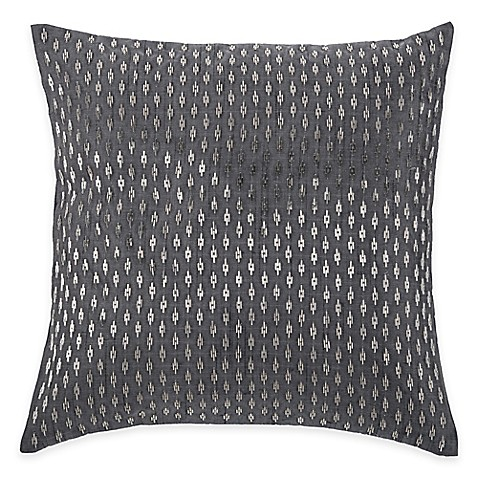 Silver Beaded Decorative Pillow : Buy Rizzy Home Beaded Pattern Square Throw Pillow in Silver from Bed Bath & Beyond
