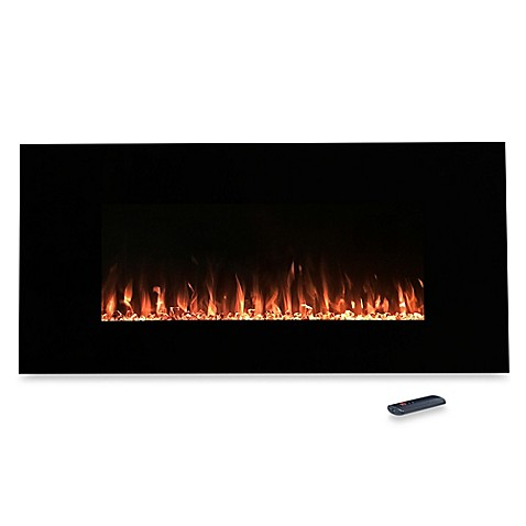 northwest fire and ice electric fireplace heater in black