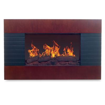 Buy Mahogany Electric Fireplace From Bed Bath Beyond
