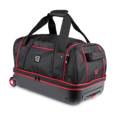 ful 21inch hybrid rolling duffle bag in black