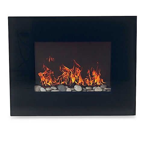 buy northwest glass panel electric fireplace heater in