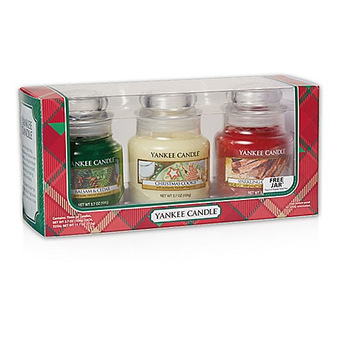 Yankee Candle® Holiday 3-Piece Small Classic Jar Candles Gift Set ...