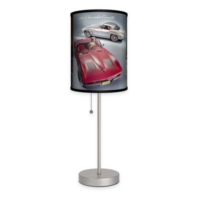 Corvette® Table Lamp In Silver With Fabric Shade