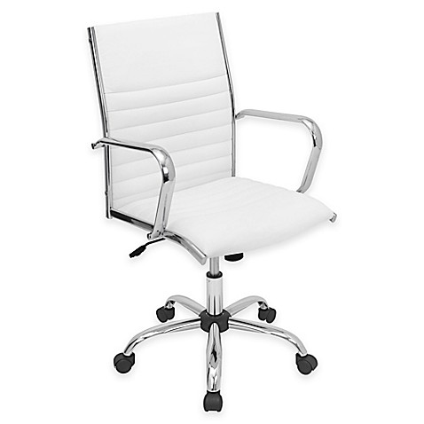 Lumisource Master Office Chair In White Bed Bath Amp Beyond