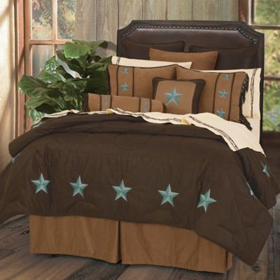 hiend accents laredo twin comforter set in turquoise - Southwest Bedding