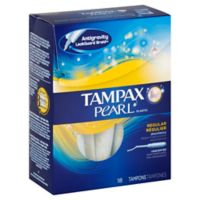 Tampax Pearl 18-Count Regular Unscented Tampons