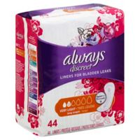 Always® 44-Count Discreet Very Light Liners in Long Length