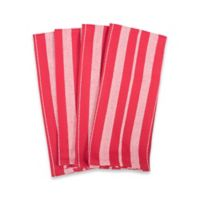 Solid 4-Pack Basketweave Towels in Red