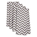 Printed Chevron Dinner Napkins in Grey (Set of 4)